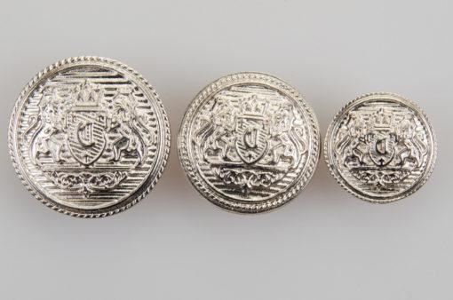 Guzik z herbem kolor srebrny śr. 16, 22 i 25 mm
