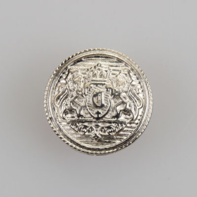 Guzik z herbem kolor srebrny śr. 16 mm