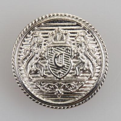 Guzik z herbem kolor srebrny śr. 25 mm