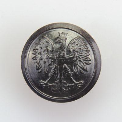 Służba Leśna, Celna guzik współczesny z orłem kolor ciemny brąz śr. 22 mm