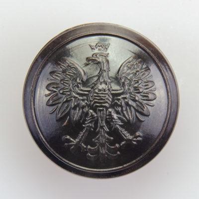 Służba Leśna, Celna guzik współczesny z orłem kolor ciemny brąz śr. 25 mm