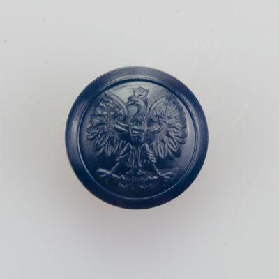 Służba więzienna, Policja guzik współczesny z orłem kolor granatowy śr. 16 mm (żywica)