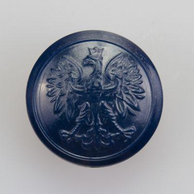 Służba więzienna, Policja guzik współczesny z orłem kolor granatowy śr. 22 mm (żywica)