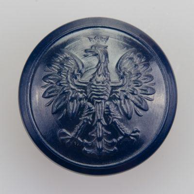 Służba więzienna, Policja guzik współczesny z orłem kolor granatowy śr. 25 mm (żywica)