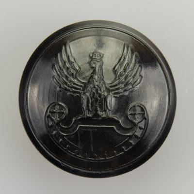 Wojska Lądowe guzik współczesny z orłem kolor ciemny brąz śr. 25 mm