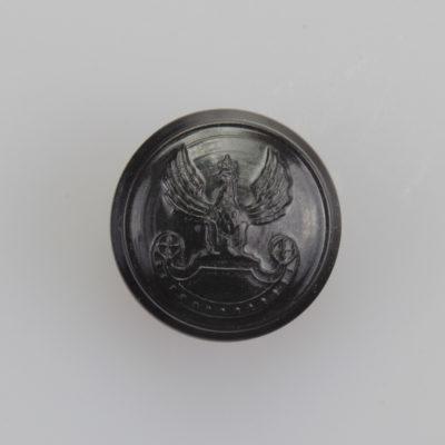 Wojska Lądowe guzik współczesny z orłem kolor ciemny brąz śr. 16 mm