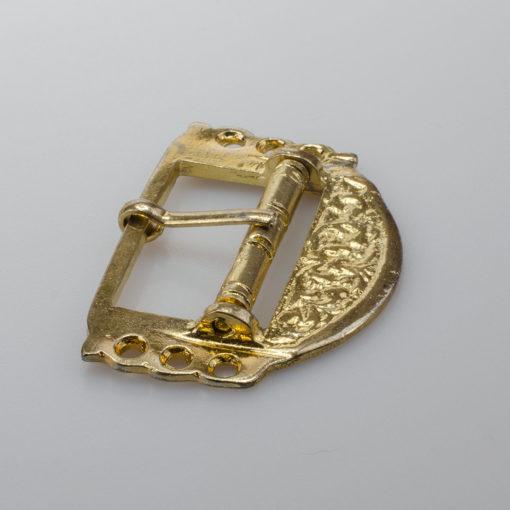 Ozdobna sprzączka do paska, kolor złoty, rozmiar 58 x 41 mm
