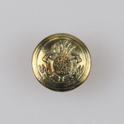 Strażackie guziki mundurowe OSP, Straż Pożarna, stare złoto śr. 15 mm