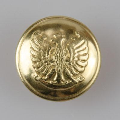 Guzik mundurowy Straży Miejskiej i Gminnej kolor złoty śr. 22 mm
