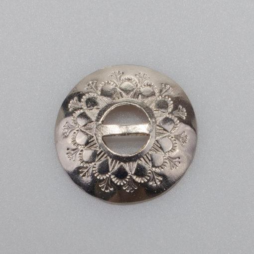 Zapinka ozdobna do stroju ludowego, kolor srebrny, śr 30 mm