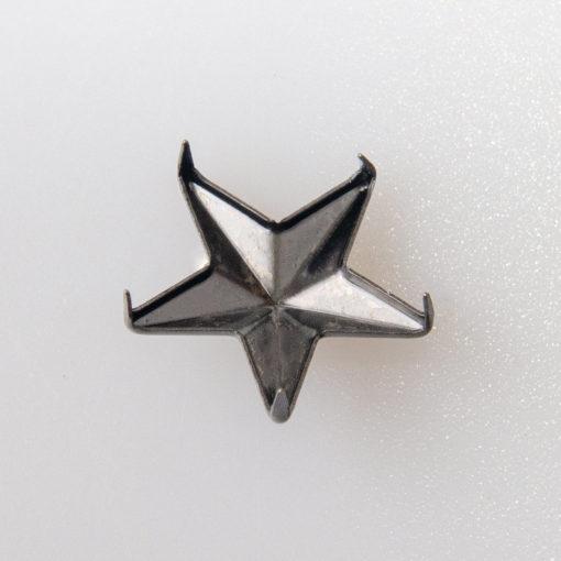 Gwiazdka oficerska do munduru, stopień wojskowy śr. 15 mm, kolor czarny