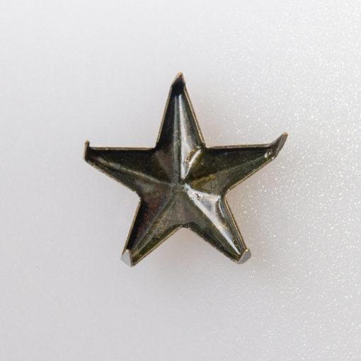 Gwiazdka oficerska do munduru, stopień wojskowy śr. 15 mm, kolor stara miedź