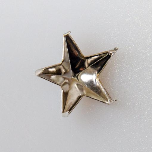 Gwiazdka oficerska do munduru, stopień wojskowy śr. 15 mm, kolor srebrny