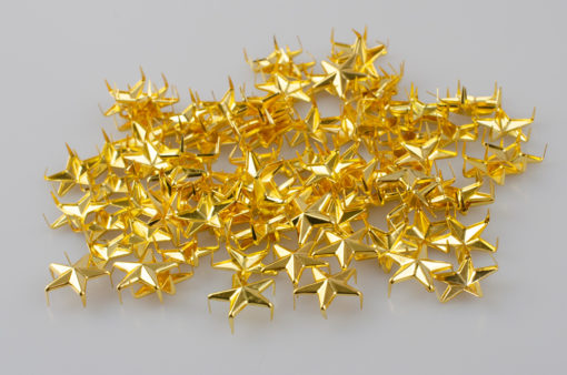Gwiazdka oficerska do munduru, stopień wojskowy śr. 15 mm, kolor złoty