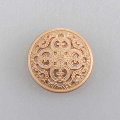 Guzik ażurowy ozdobny kolor antyczne złoto śr. 20 mm