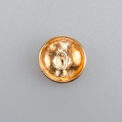 Guzik ozdobny elegancki pikowany kolor złoty śr. 18 mm