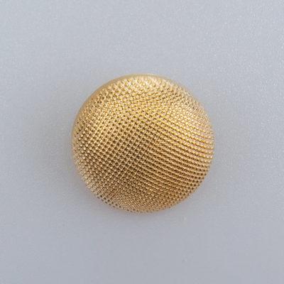 Guzik ozdobny elegancki pikowany kolor złoty śr. 22 mm