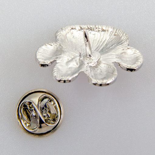 Kocia lub Psia Łapka znaczek na pin/ szpilkę kolor fioletowy/ srebrny