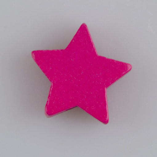 Gwiazdka drewniany koralik do zwieszenia MIX 5 kolorów