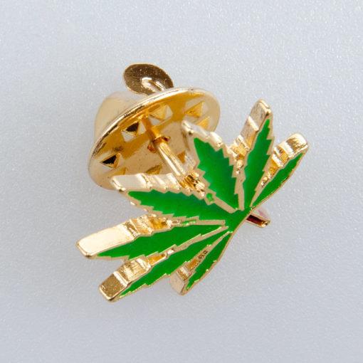 Maryśka znaczek na pin/ szpilkę kolor zielony/ złoty