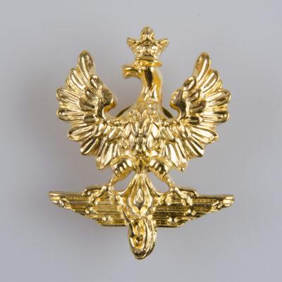 Orzeł Polskie Koleje Państwowe duży, na śrubę, kolor złoty