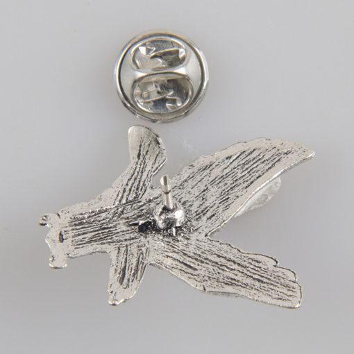 Orzeł znaczek na pin/ szpilkę kolor srebrny