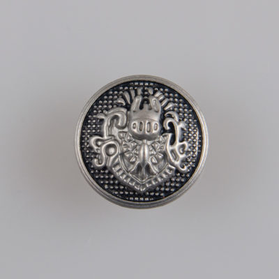 Guzik metalowy w stylu angielskim kolor srebrno-czarny śr. 15 mm