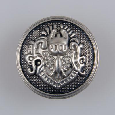 Guzik metalowy w stylu angielskim kolor srebrno-czarny śr. 23 mm