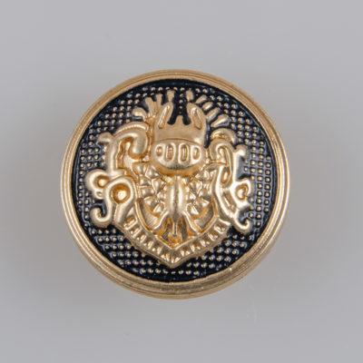 Guzik w stylu angielskim kolor złoto-czarny śr. 20 mm