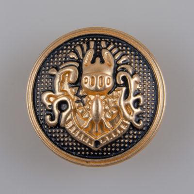 Guzik w stylu angielskim kolor złoto-czarny śr. 23 mm