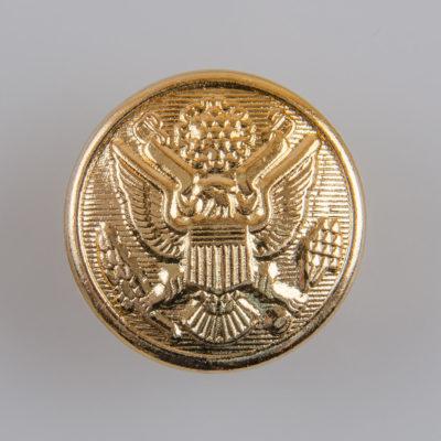 Guzik wojskowy armii USA II wzór 1902 złoty śr. 25 mm