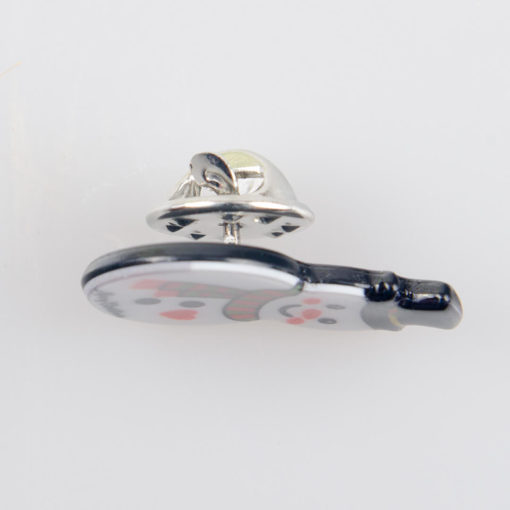 Bałwan, znaczek na pin/ szpilkę, akryl, kolorowy nadruk
