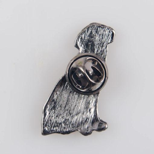 Labrador pies, znaczek na pin/ szpilkę, metal kolorowa emalia