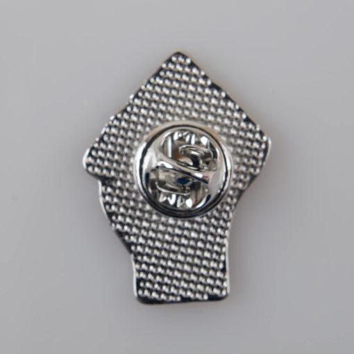 Przypinka na pin Zaciśnięta Pięść kolor czarno-srebrny