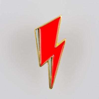 Błyskawica / Strajk Kobiet / Wybór Nie Zakaz znaczek na pin kolor czerwony/ złoty