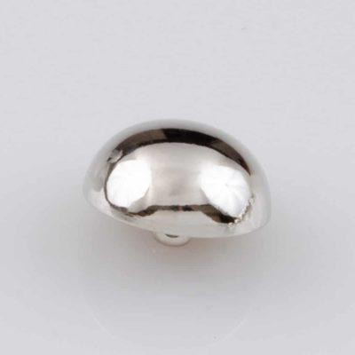 Guzik grzybek gładki srebrny śr. 20 mm