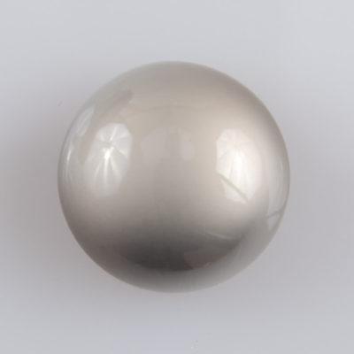 Guzik grzybek gładki srebrny perłowy śr. 25 mm