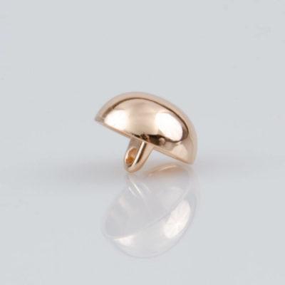 Guzik grzybek gładki złoty śr. 15 mm