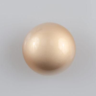 Guzik grzybek gładki złoty perłowy śr. 20 mm