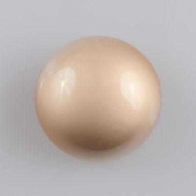 Guzik grzybek gładki złoty perłowy śr. 25 mm