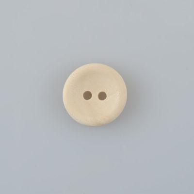 Guzik drewniany okrągły gładki 15mm
