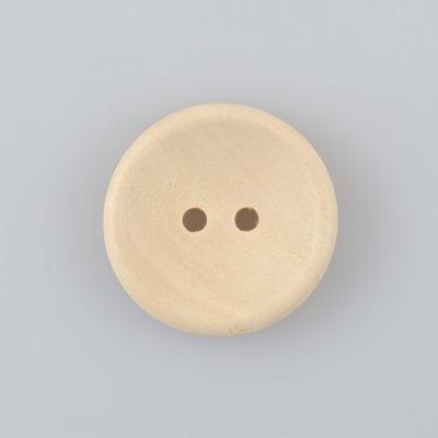 Guzik drewniany okrągły gładki 25mm