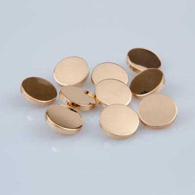Guzik płaski metalowy błyszczący złoty, śr. 20 mm