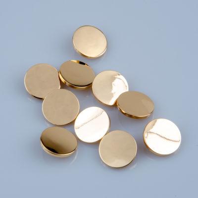 Guzik płaski metalowy błyszczący złoty, śr. 25 mm