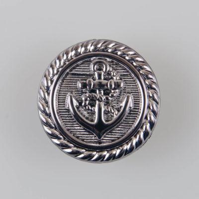 Guzik Kotwica z tworzywa sztucznego, śr. 25 mm, kolor srebrny