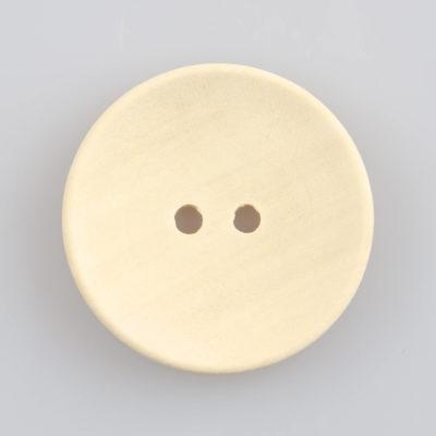 Guzik drewniany okrągły gładki bez rantu, 2 dziurki, śr. 30 mm, DIY