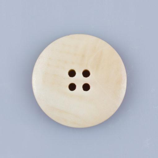 Guzik drewniany z Makami Polnymi, 4 dziurki do przyszycia, śr. 30mm