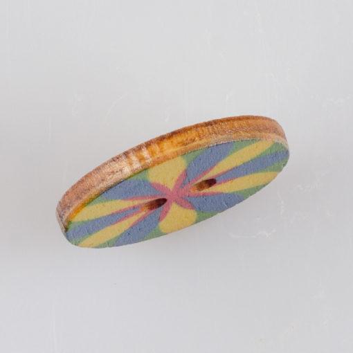 Guzik drewniany Mandala Indie Buddyzm, 2 dziurki, śr. 25mm (Wzór nr 4)