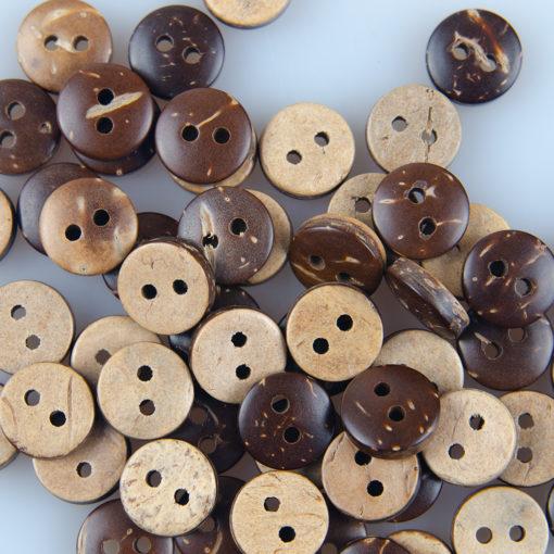 Guzik kokosowy do przyszycia 9 mm, dwie dziurki