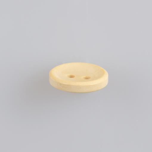 Guzik drewniany wklęsły, 2 dziurki, śr. 15 mm